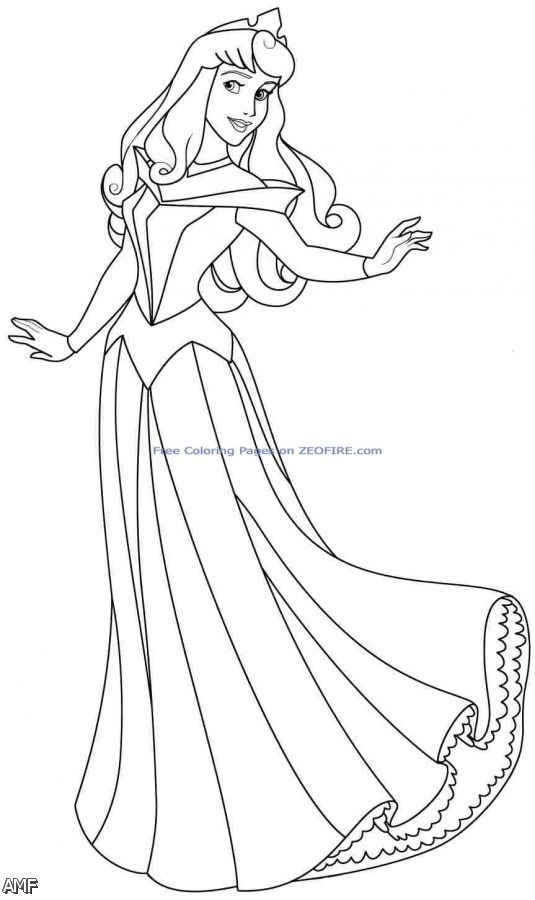 Aurora Disney Princess Coloring Pages Download And Print
