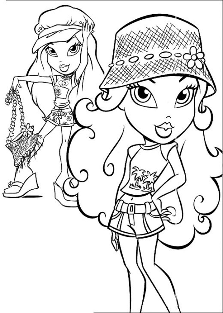 Painting pages to print - Barbie And Bratz Coloring Pages