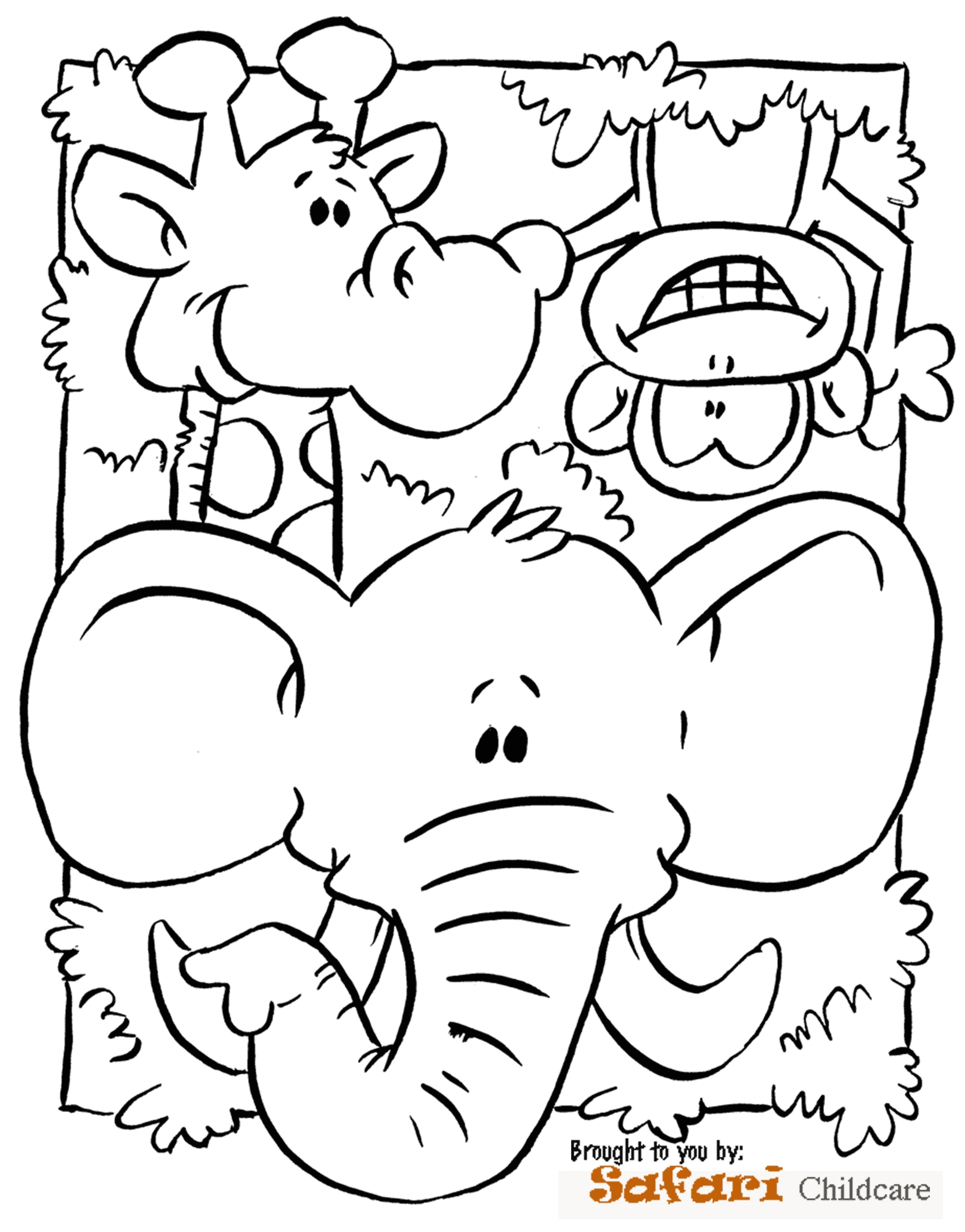 jungle safari coloring pages - Printable Scenery Coloring Pages