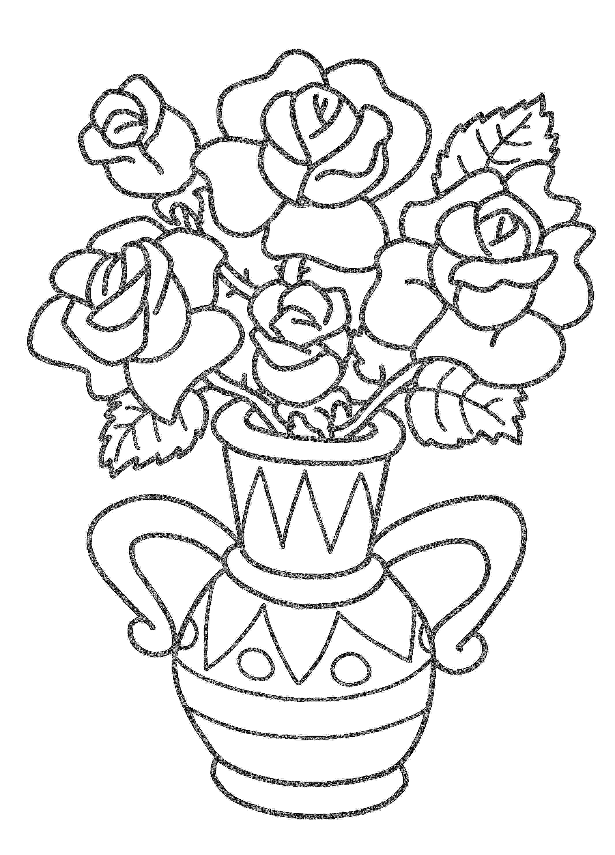 Vase coloring pages to download