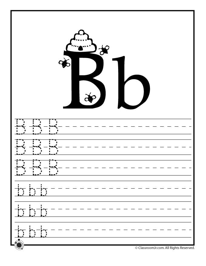 Worksheets For Toddlers Letter B - worksheets for toddlers letter ...