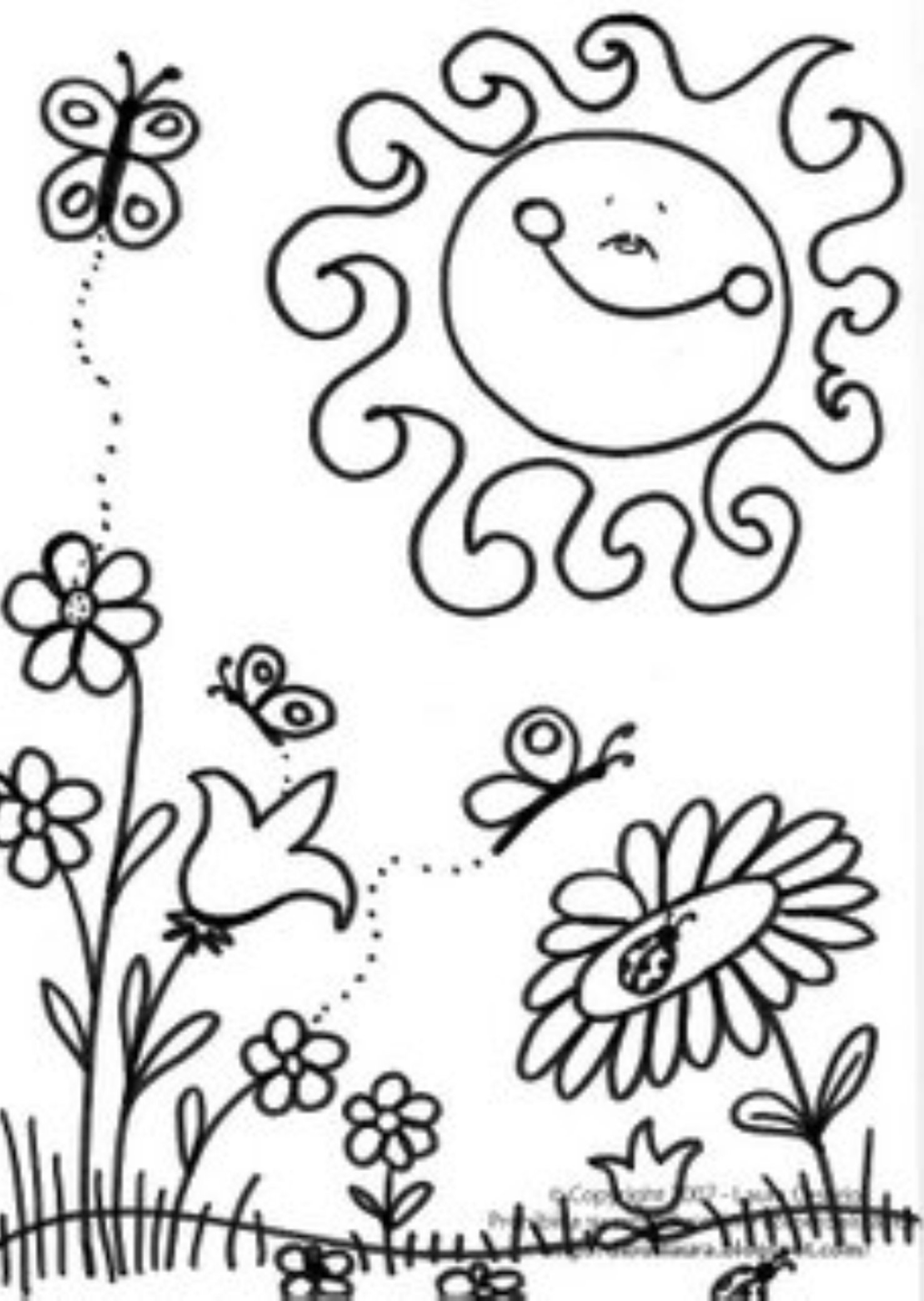 spring coloring pages detailed words - photo#48