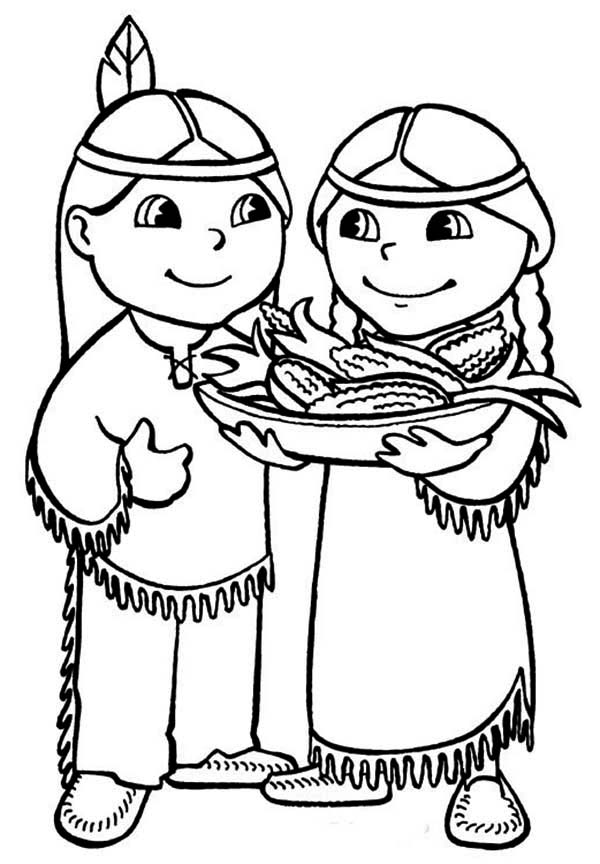Native american boy coloring pages download and print for free for Native american printable coloring pages