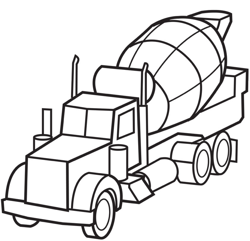 Construction vehicles coloring