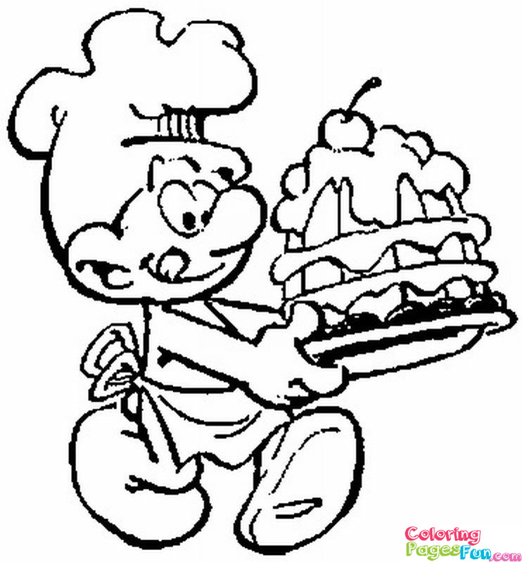 smurf coloring pages to download and print for free - Smurf Coloring Pages
