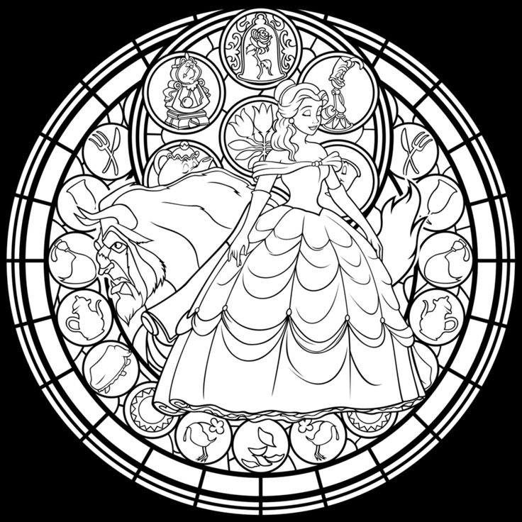 Medieval stained glass coloring pages download and print for Stained glass coloring pages for adults