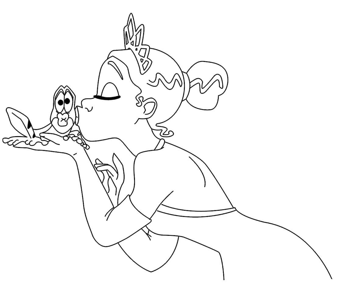 baby tiana coloring pages - princess tiana coloring pages download and print for free