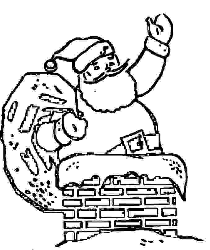chimney coloring pages christmas - photo#26