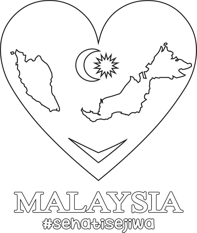 Malaysia coloring pages download