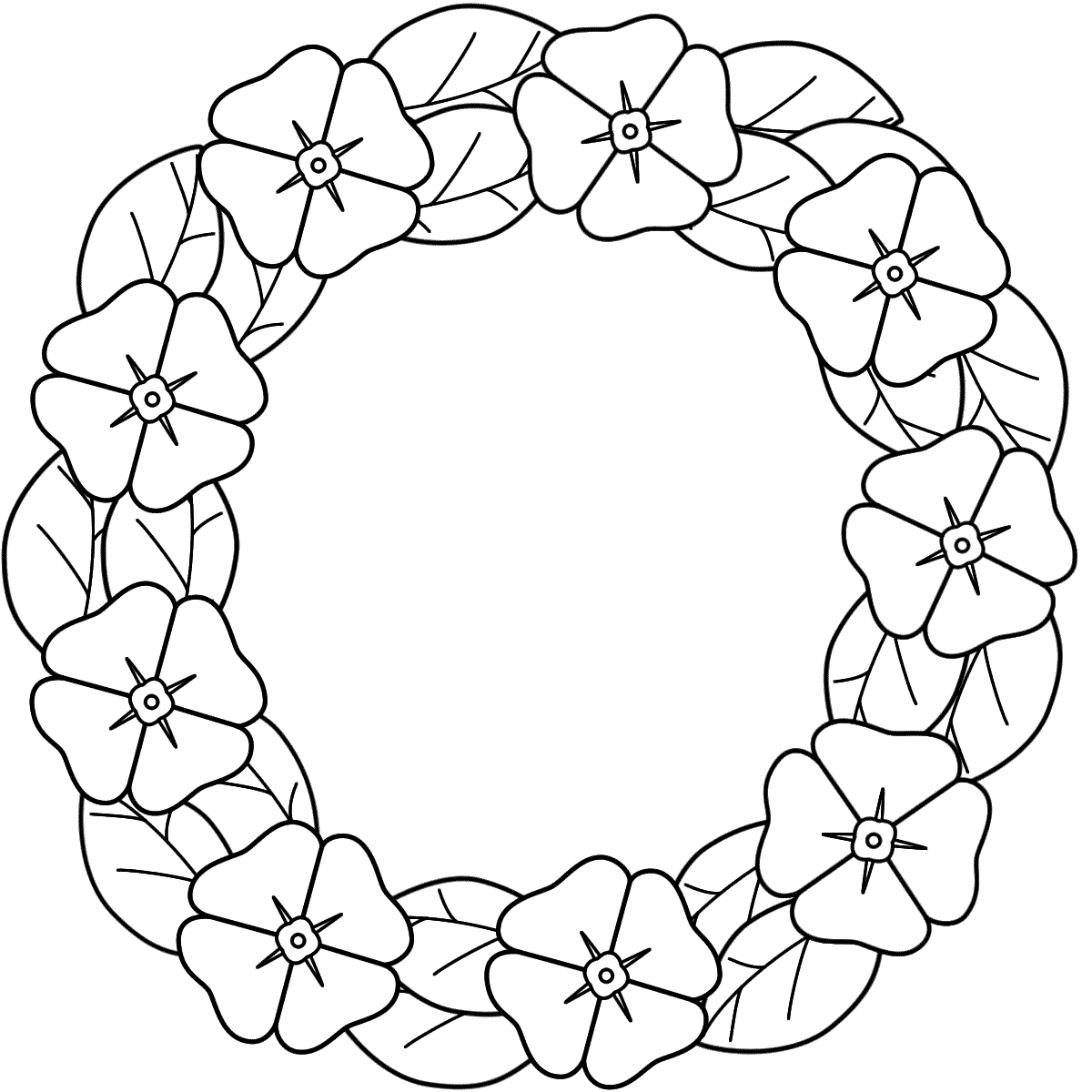 Wreath coloring pages download and print for free