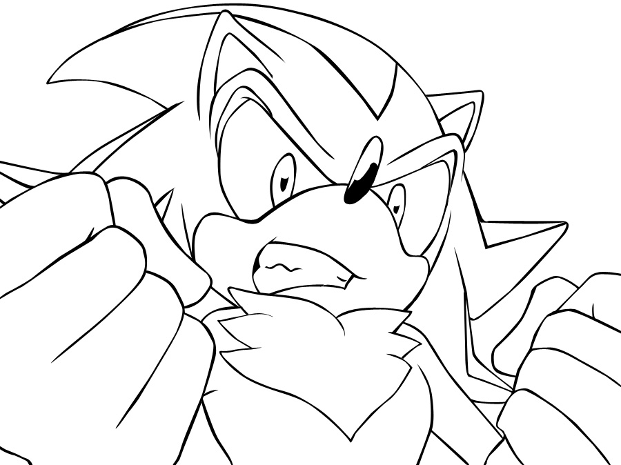 Shadow The Hedgehog Coloring Pages To Download And Print