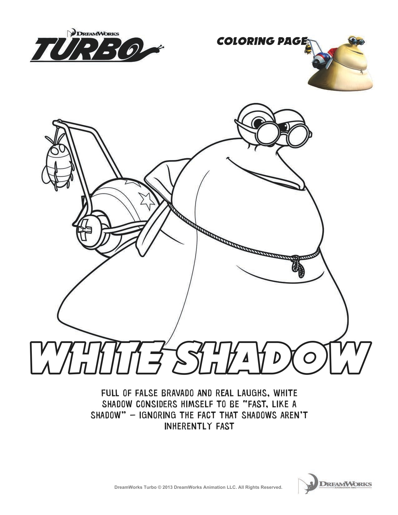 Dreamworks Turbo Coloring Pages Download And Print For Free