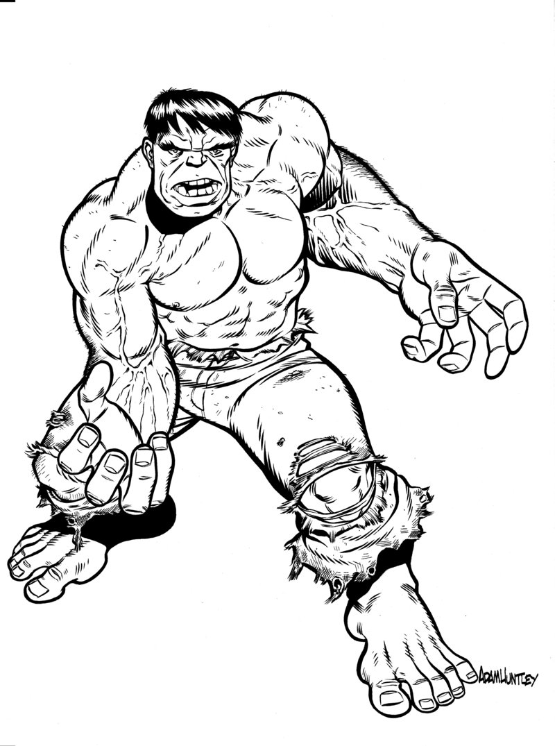 hulk cartoon coloring pages - Hulk Color Pages