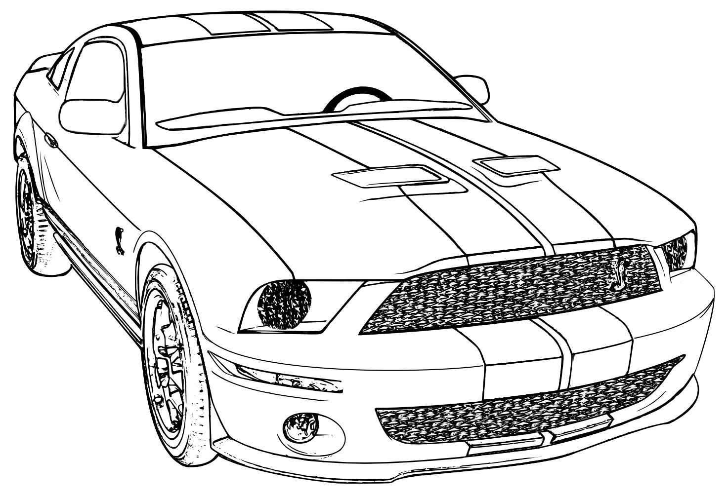 1972 Mustang Coloring Page - Worksheet & Coloring Pages