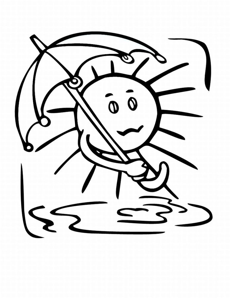 Weather coloring pages to download
