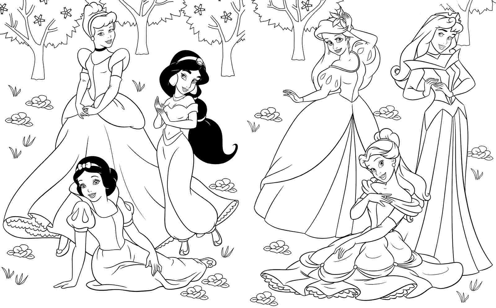 princess coloring pages - Princess Printable Coloring Pages