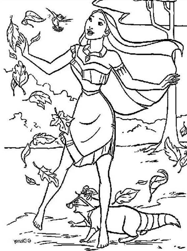 Pocahontas Coloring Pages To Download And Print For Free