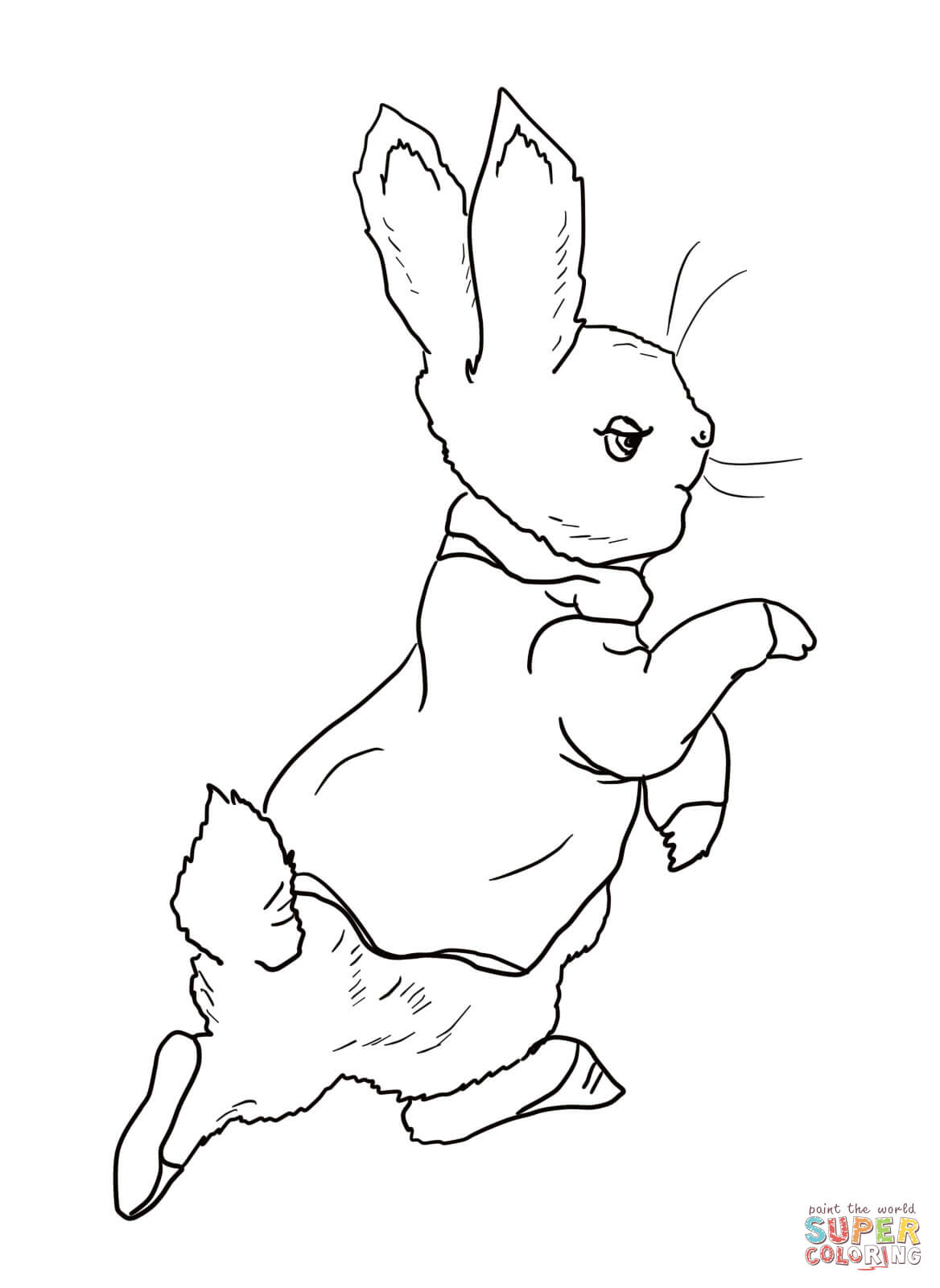 Peter rabbit coloring pages to download and print for free for Rabbit coloring pages