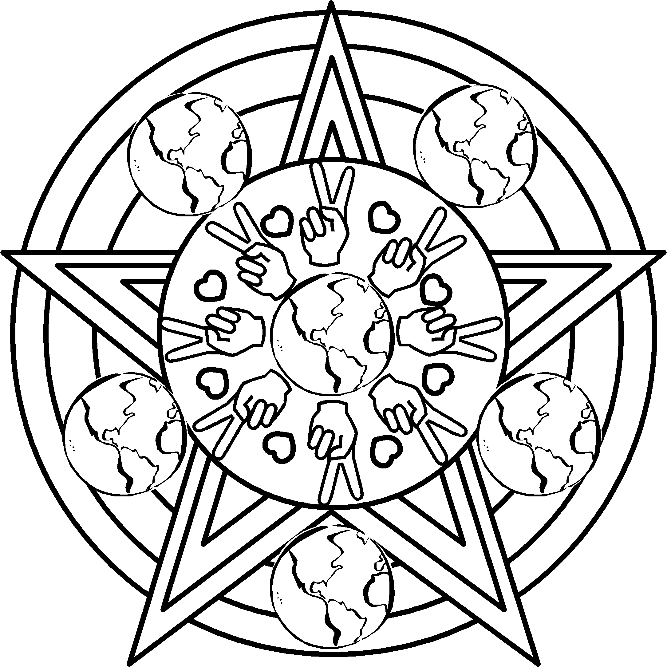 free black coloring pages - photo#26