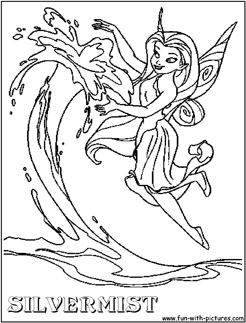 Disney fairy silvermist coloring pages download and print ...
