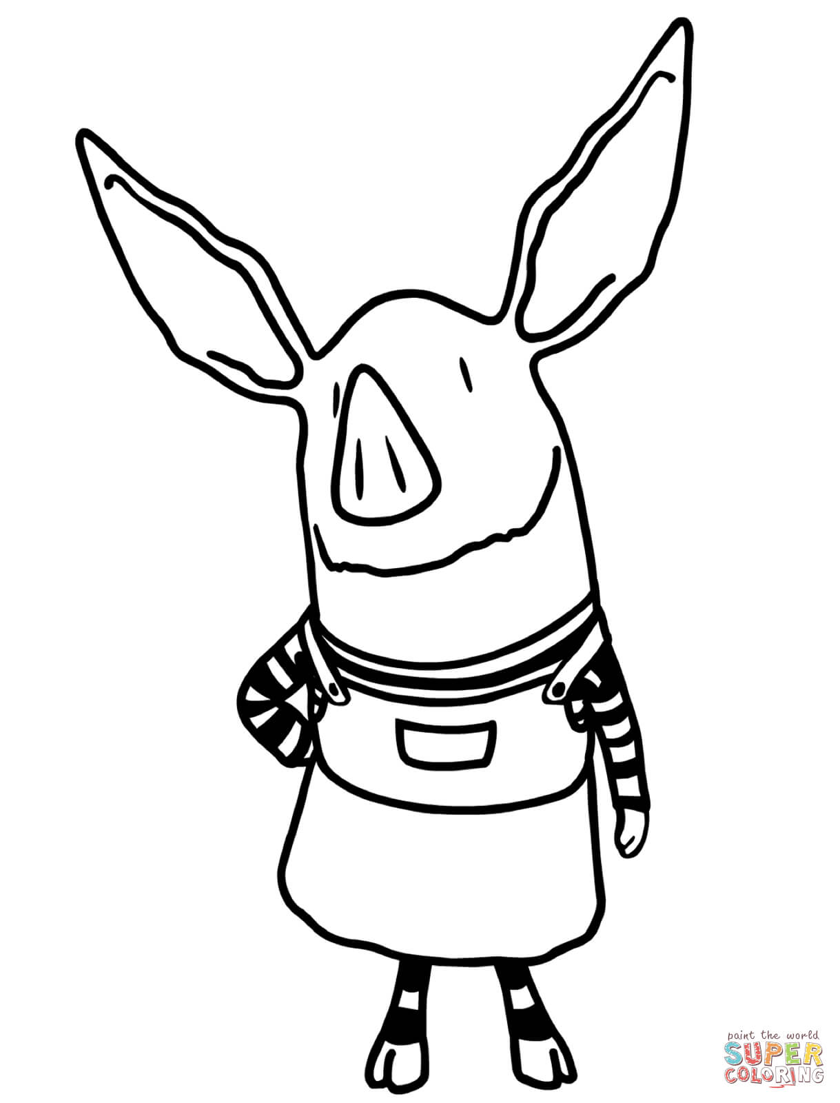 olivia coloring pages for kids - photo#1