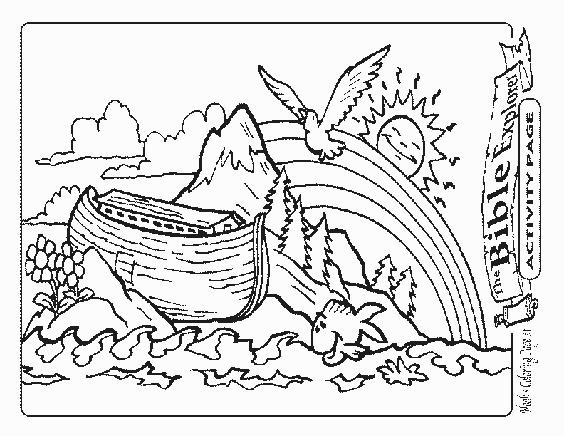 Noah ark coloring pages to download