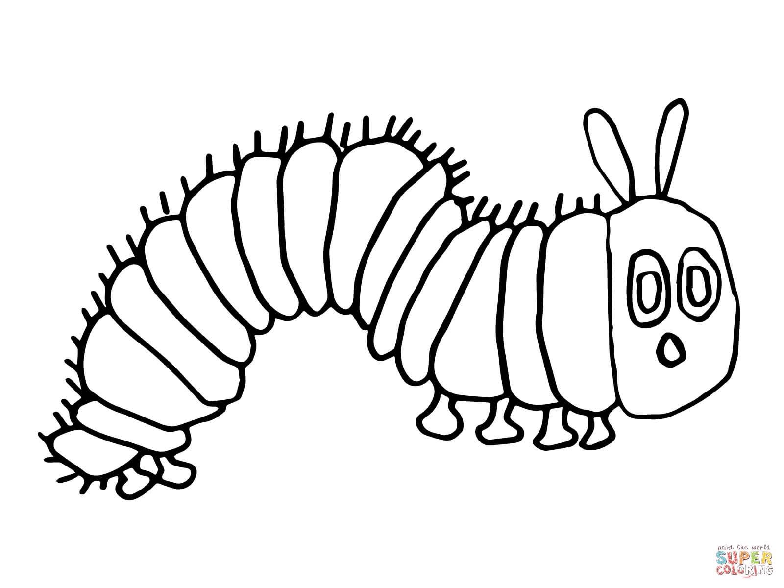 Very Hungry Caterpillar Coloring Pages To Download And Hungry Caterpillar Butterfly Coloring Page