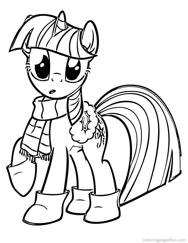 My little pony christmas coloring