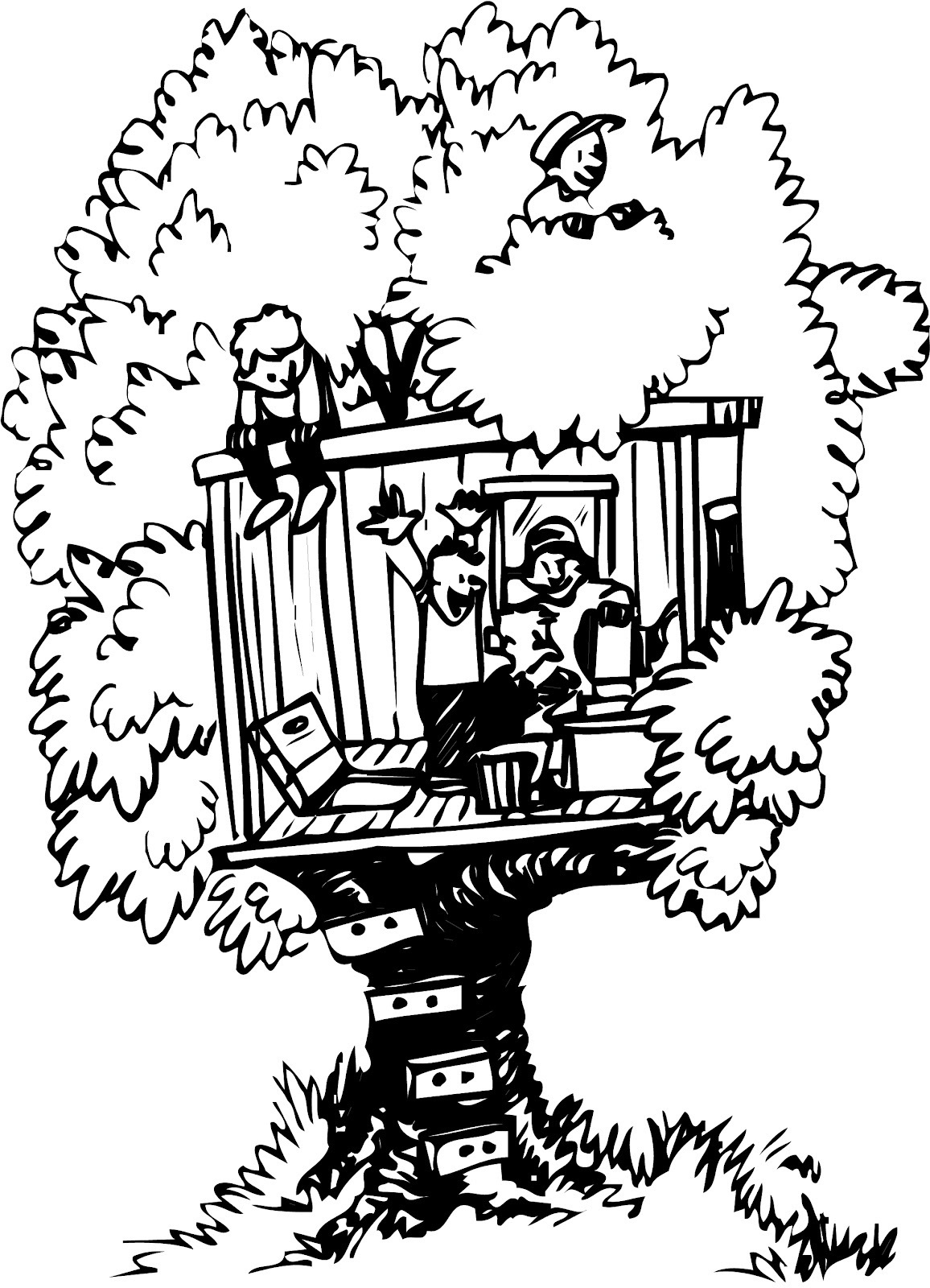 free magic treehouse coloring pages - photo#12