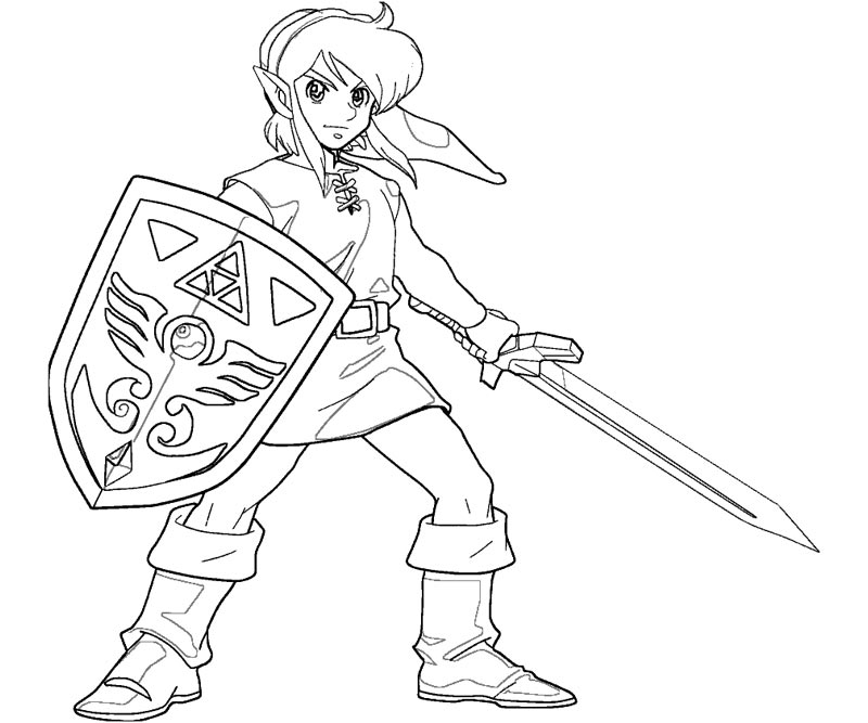 link coloring pages free printable zelda coloring pages for kids ...