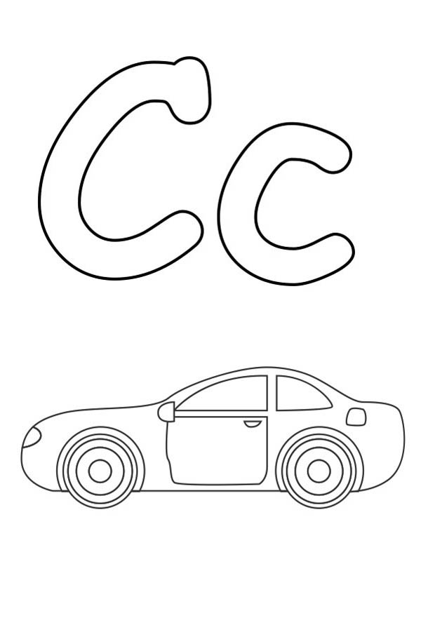 Letter c coloring pages to download and print for free for Letter c color page