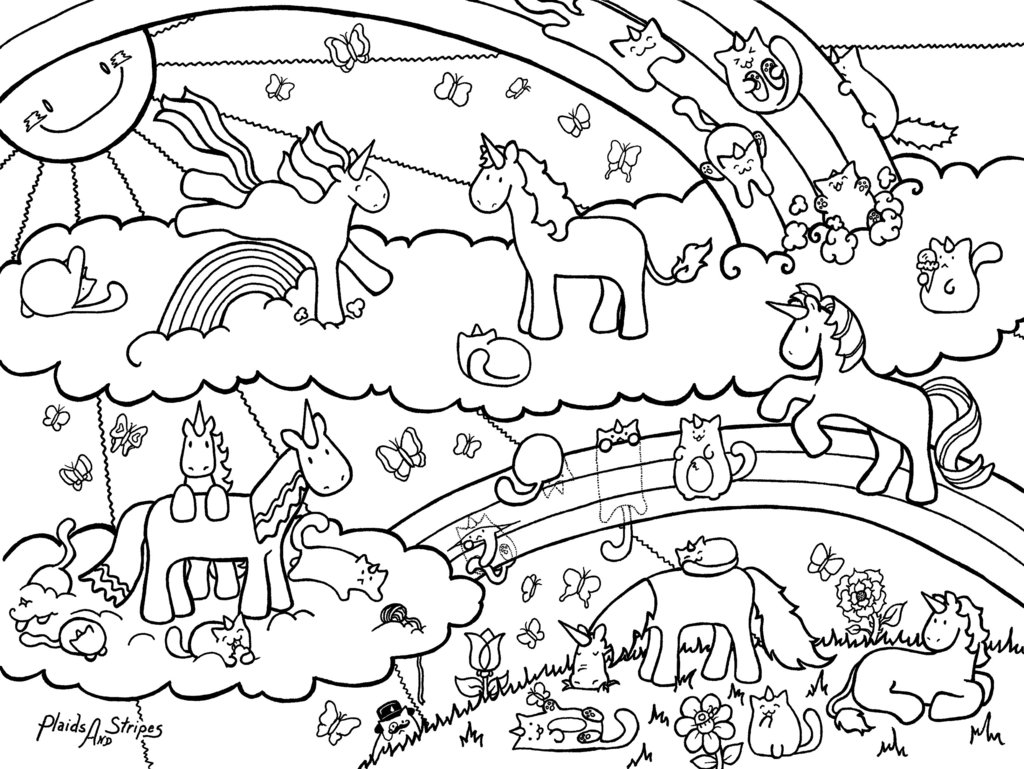 Baby unicorn colouring pages - Unicorn Coloring Pages