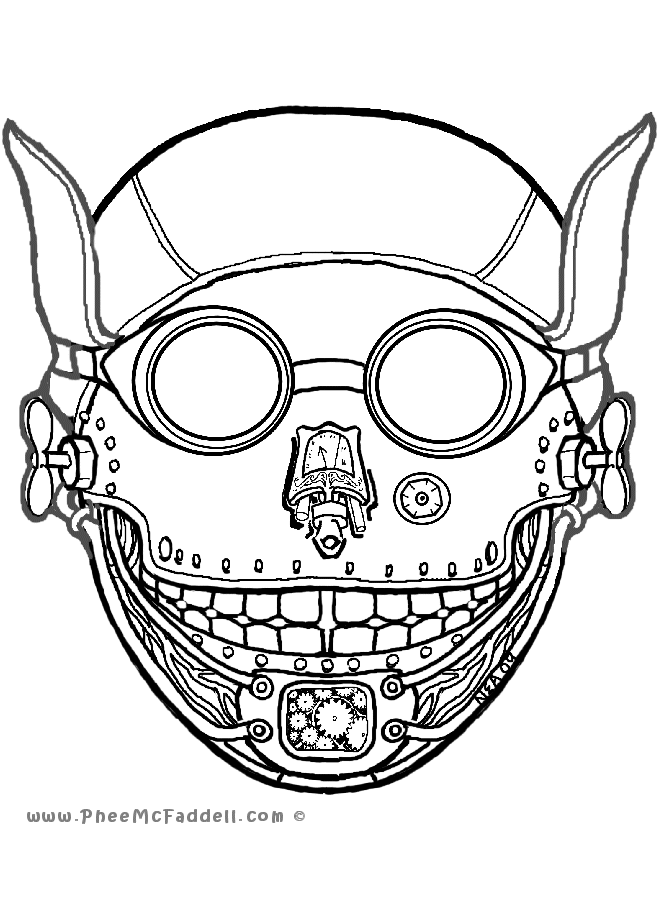 free mask coloring pages - photo#40
