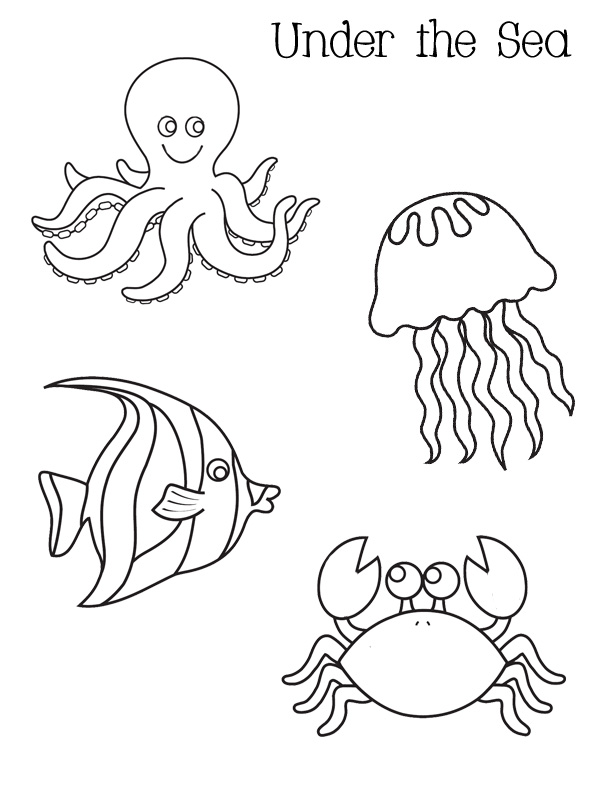 uner the sea coloring pages - photo#1