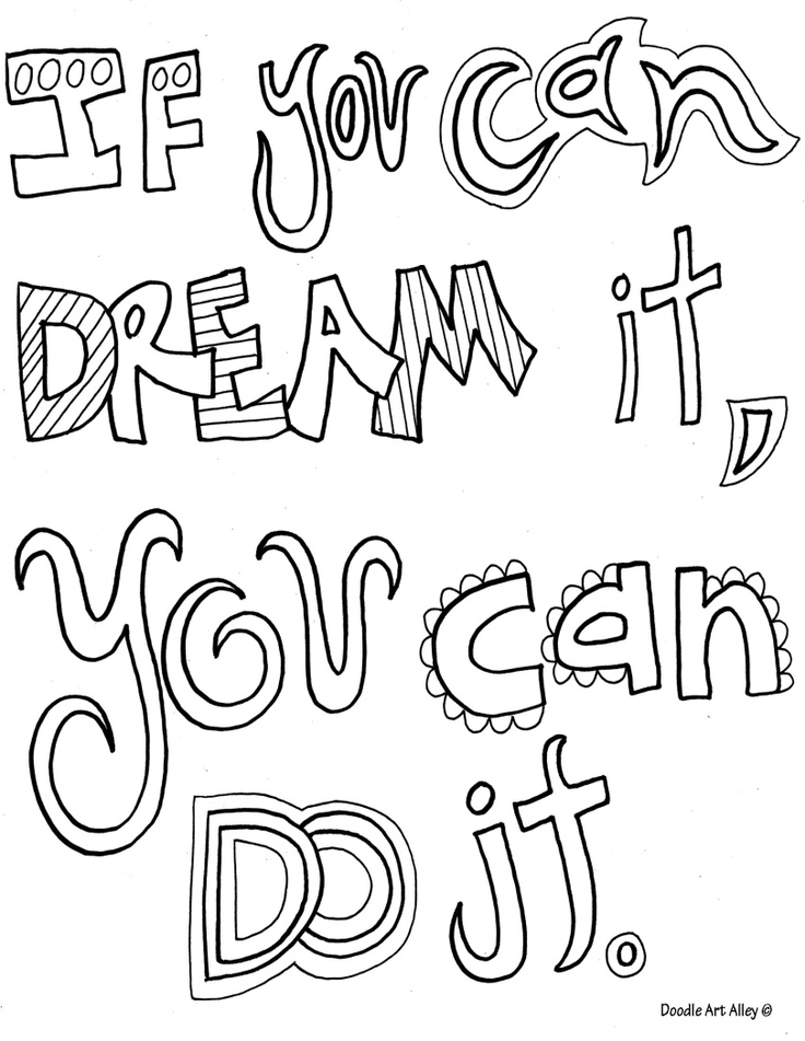 Inspirational coloring pages to download and print for free for Positive quotes coloring pages