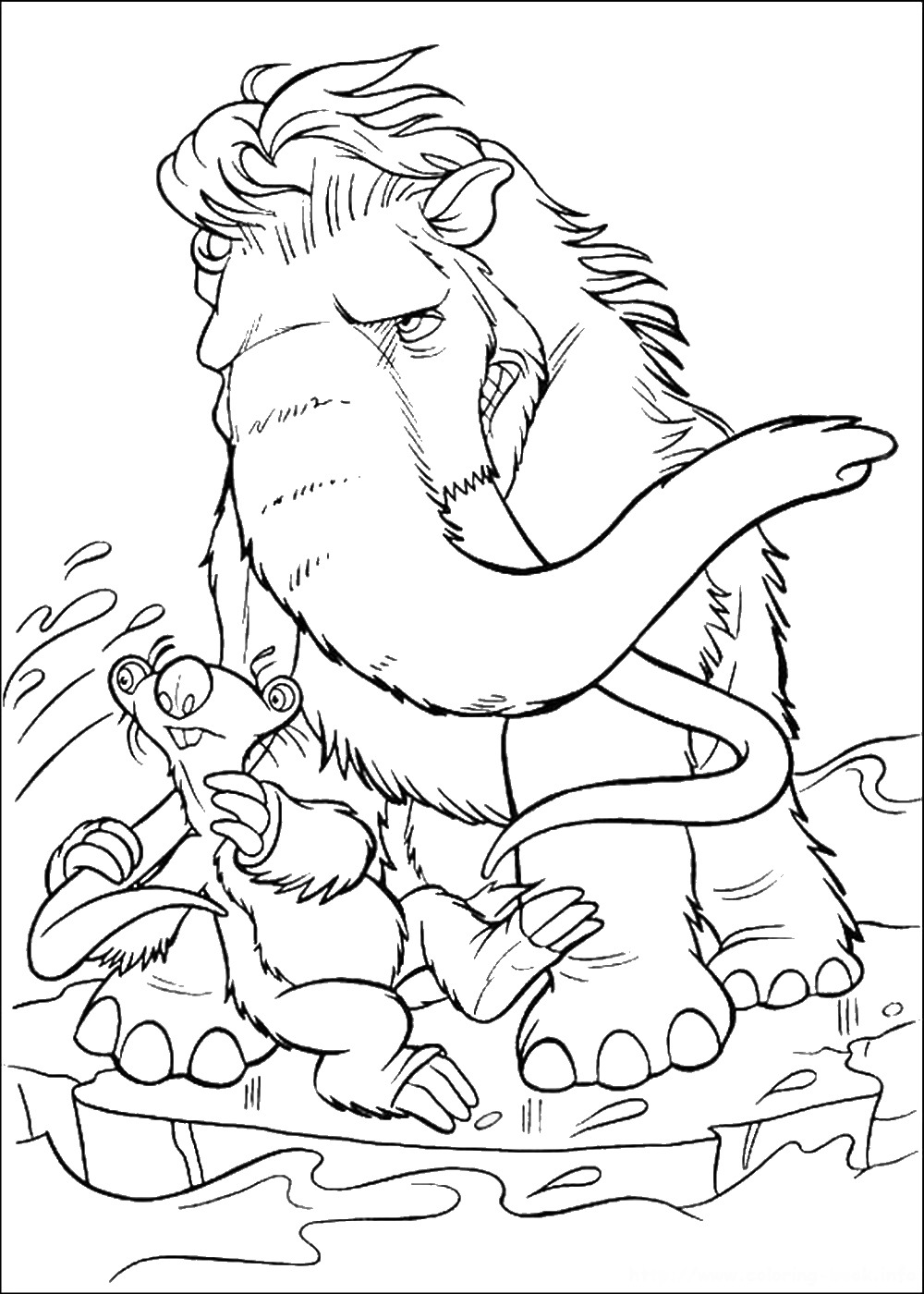 Ice age 4 coloring pages