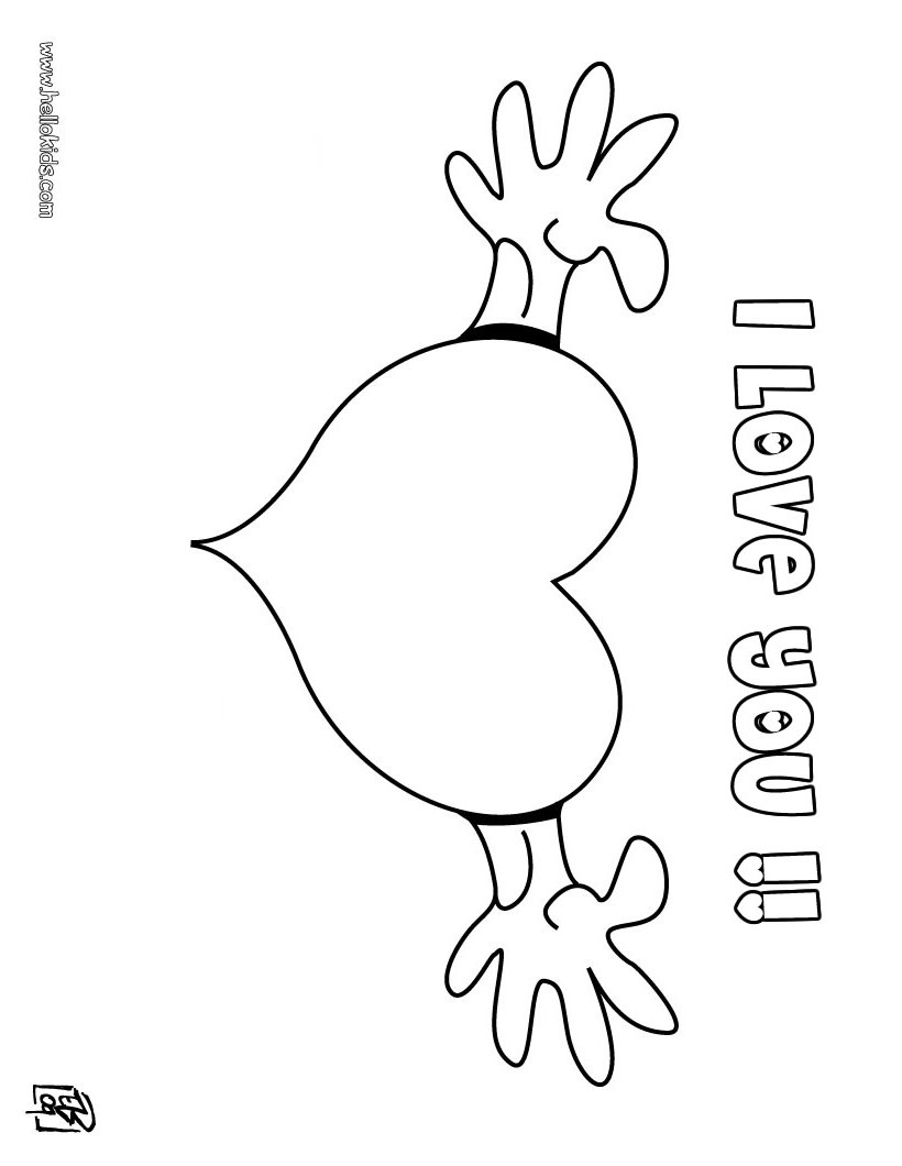 I love you coloring pages to download