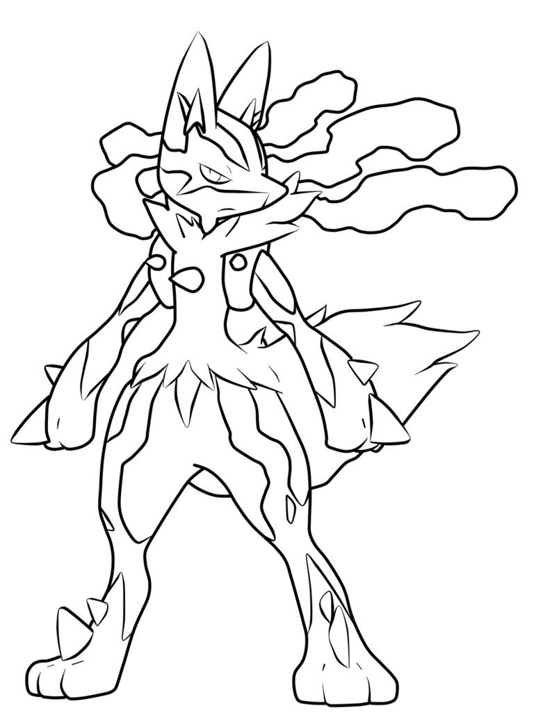 Lucario coloring pages to download
