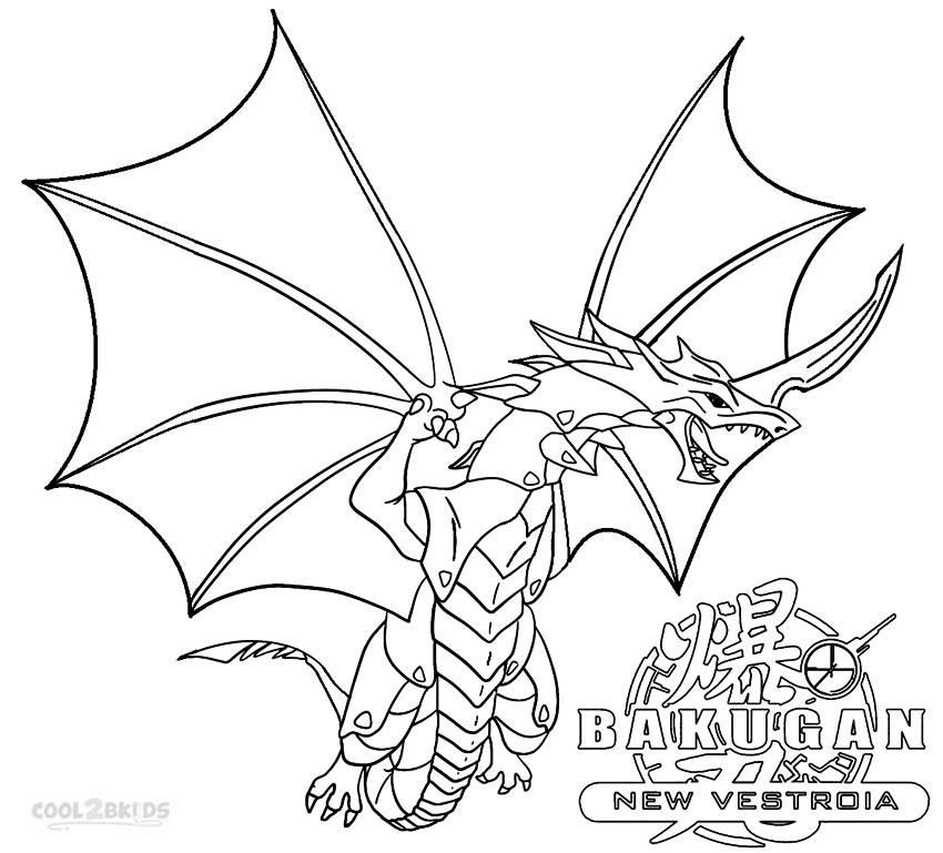 Bakugan Coloring Pages Dragon | Coloring Pages