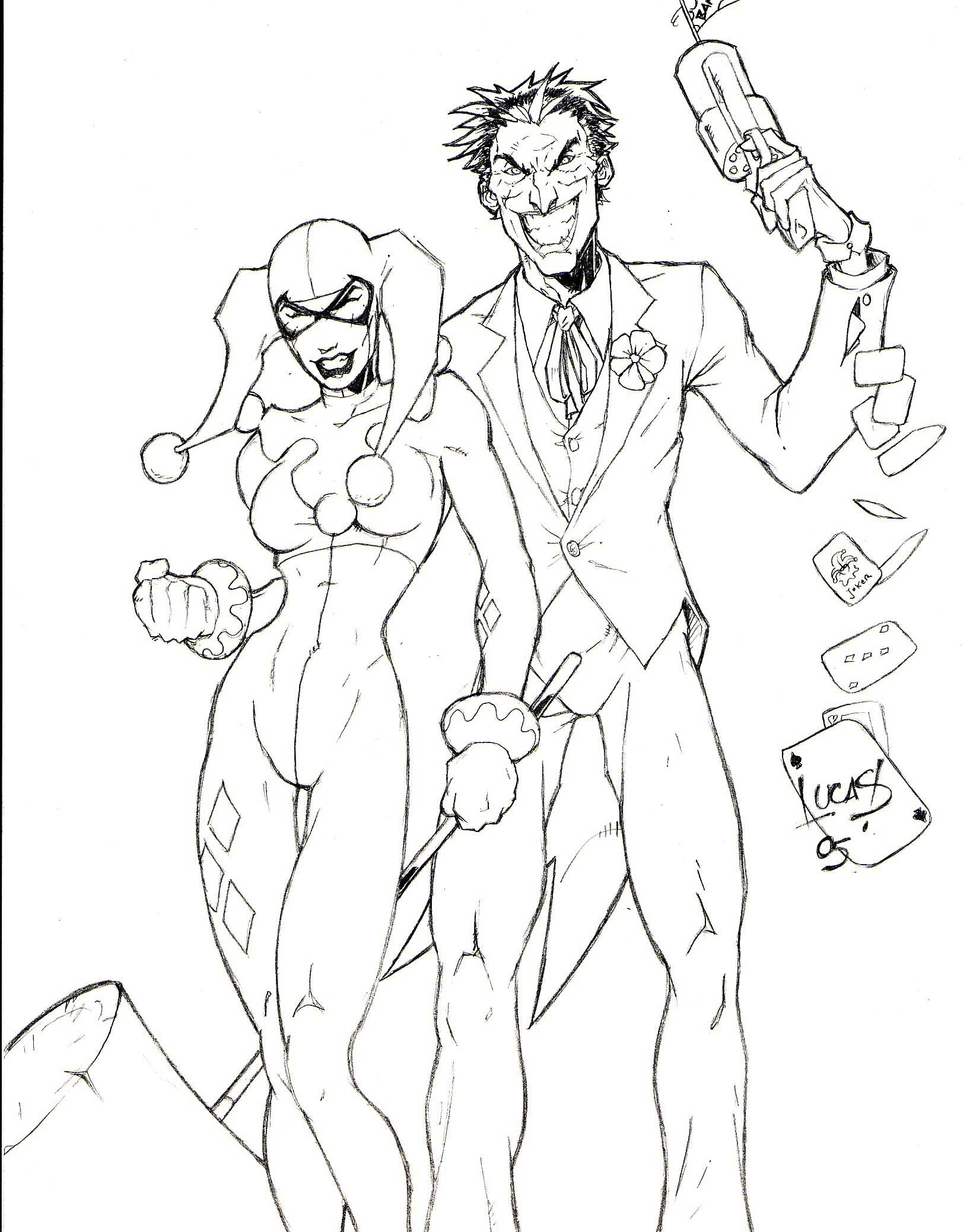 Harley quinn coloring pages to