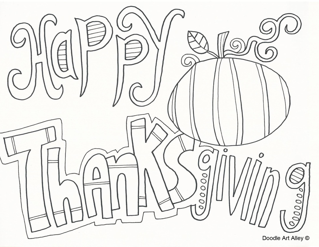 Happy thanksgiving coloring pages to download and print for free