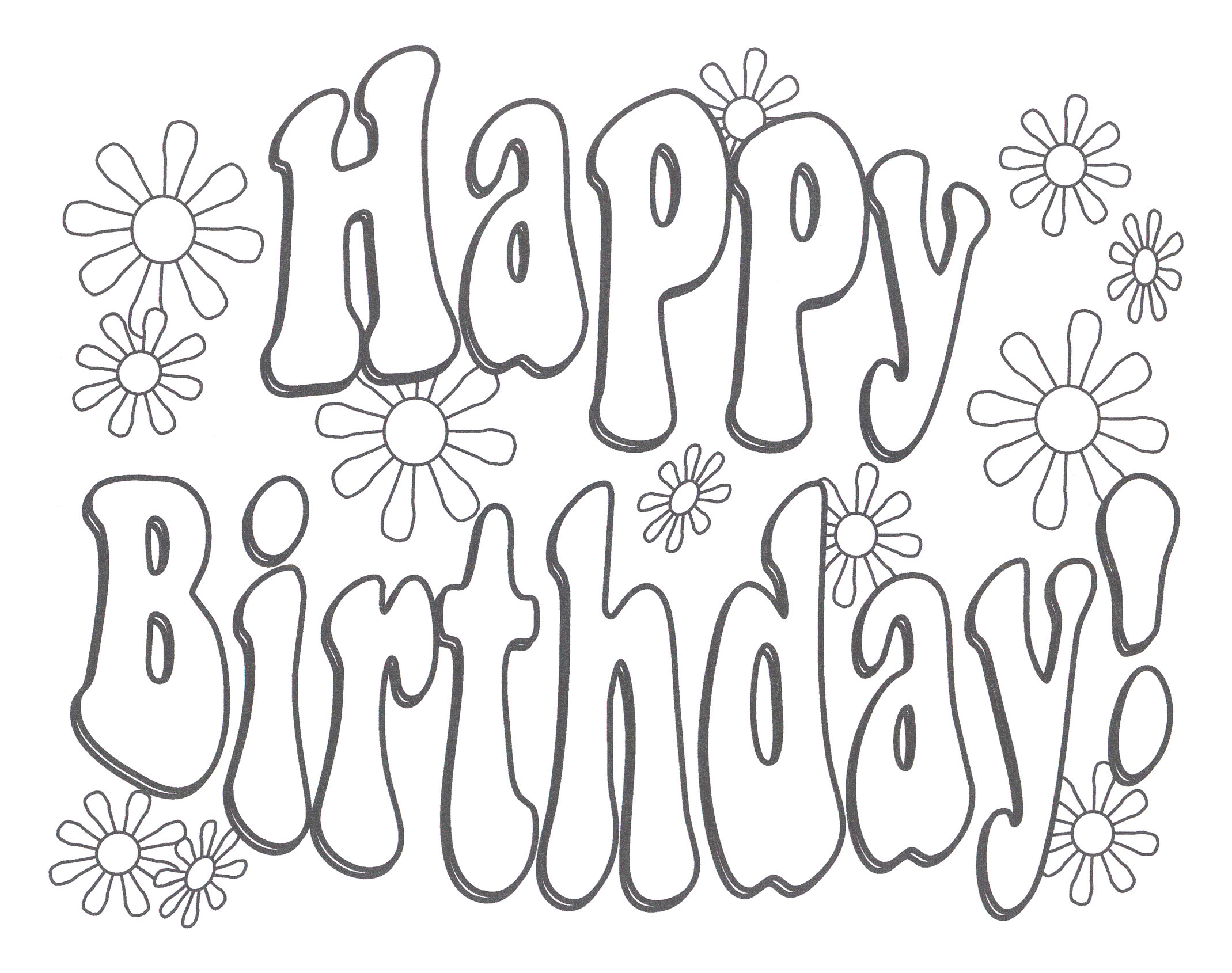 happy birthday coloring pages - Birthday Coloring Pages Girls