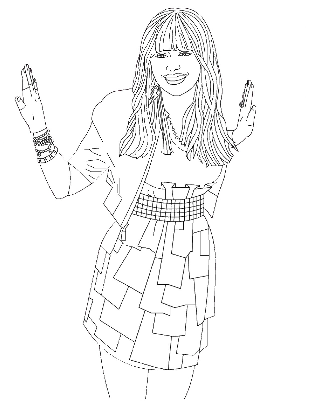 Hannah montana coloring pages to