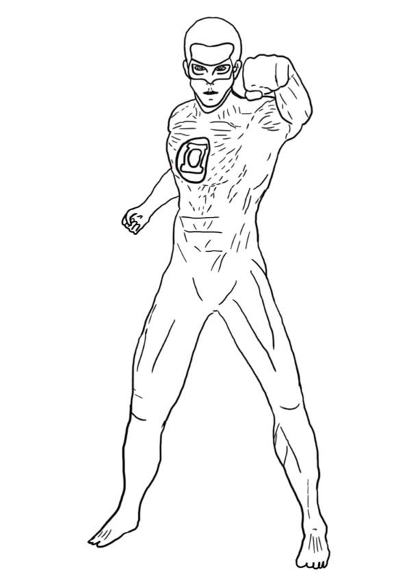 Printable Coloring Green Lantern : Green lantern coloring pages to download and print for free
