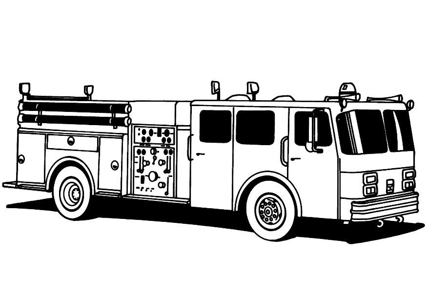 Fire truck coloring pages to download and print for free