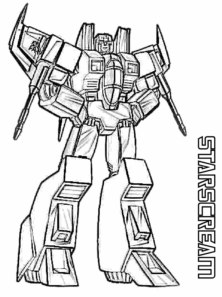 Transformer coloring pages to download and print for free