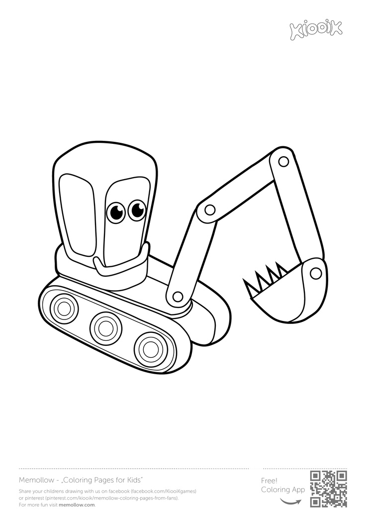 Excavator coloring pages to download