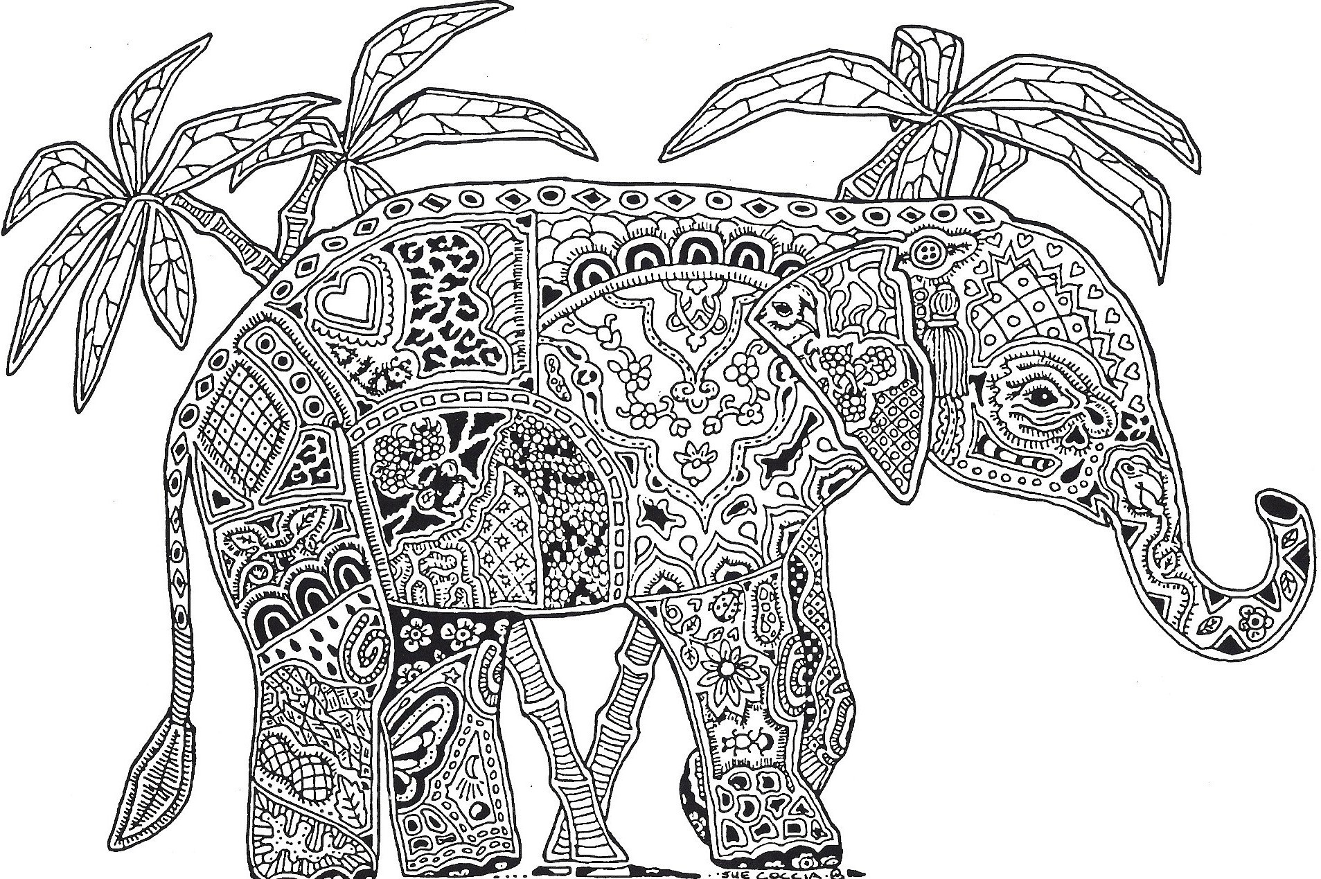 Coloring pages difficult - Difficult Coloring Pages For Adults