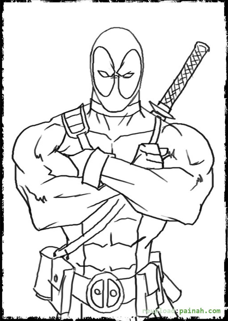 Deadpool coloring pages to download