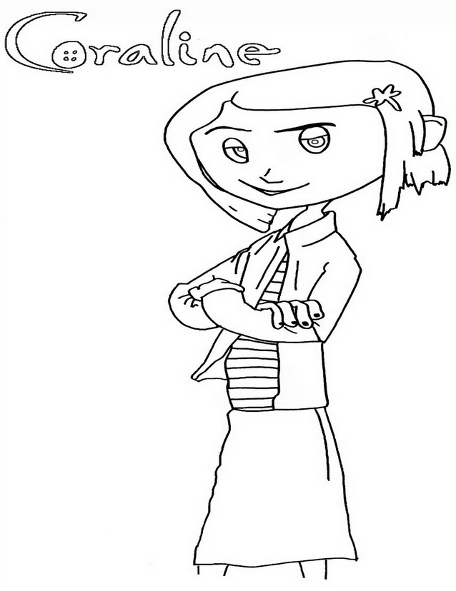 This is a picture of Fan coraline coloring pages
